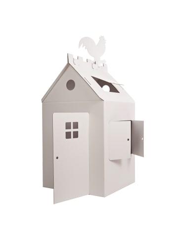 """Bibabox Pappspielzeug """"Das große Papphaus"""" in Weiß"""