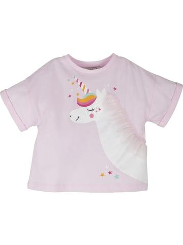 Mamino Kindermode Mädchen T Shirt mit Applikationen in pink