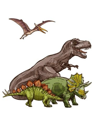 """Dekodino Wandtattoo """"Dinosaurier als Familie Raubtiere"""" in Bunt"""
