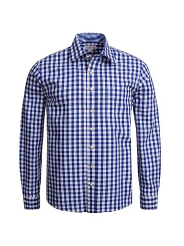 Almsach Trachtenhemd Regular Fit in Dunkelblau