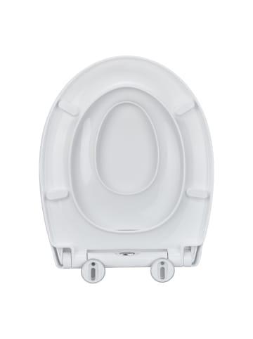 Relaxdays Klobrille mit Kindersitz in Weiß - (B)37 x (T)44,5 cm