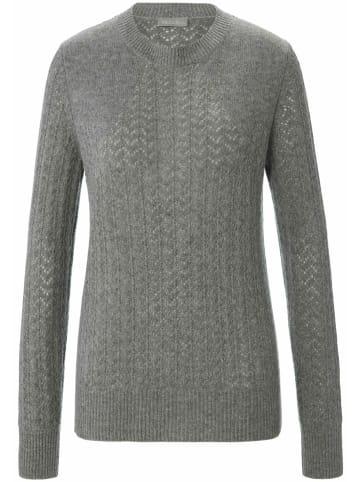 Include Pullover Rundhals-Pullover in grau-melange