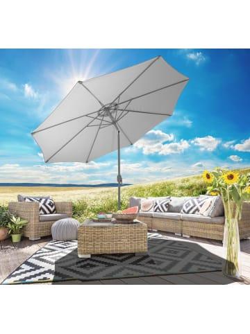 Gartenfreude Sonnenschirm 270 cm in Grau