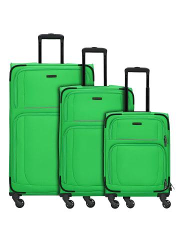 Travelite Garda 2.0 4-Rollen Kofferset 3tlg. in apfelgruen grau