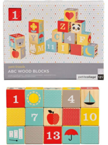 Petit Collage ABC Bauklötze 15-teilig