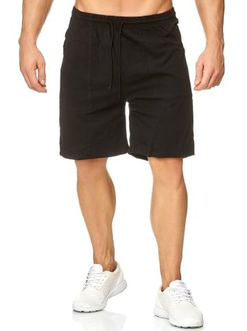 Max Men Shorts Bermuda Pants Kurze Sommer Hose leicht in Schwarz
