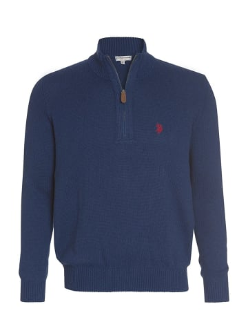 U.S. Polo Assn. Troyer Zip Pullover in JEANSBLAU