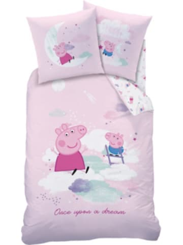 CTI Bettwäsche Peppa Pig Dream, Baumwolle, rosa, 135 x 200 cm + 80 x 80 cm