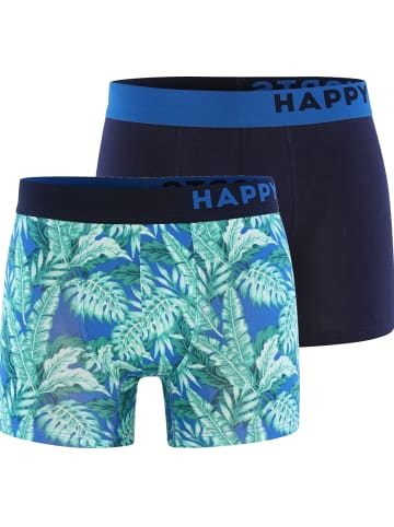 Happy Shorts Boxershorts Trunks #2 in Hellblau/Navy