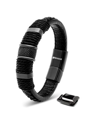 """SERASAR Armband """"Ring"""" in Schwarz"""