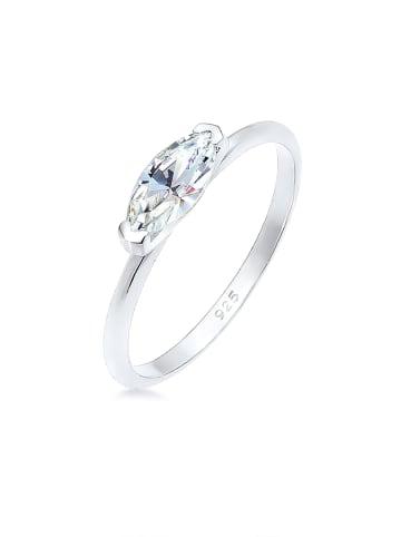 Elli Ring 925 Sterling Silber Kristall Ring, Verlobungsring in Silber