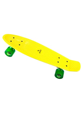 PiNAO Sports Retro-Skateboard in gelb