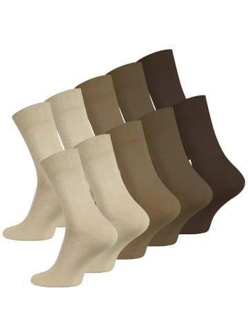 VCA® Herren Socken 10 Paar in braun