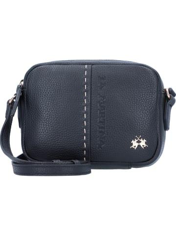La Martina Sofia Mini Bag Umhängetasche Leder 18 cm in nero
