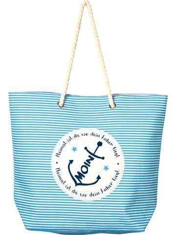 """IHR Ideal Home Range GmbH  Textiltasche """"MOIN ANKER"""" in blue 53X16X43 cm"""