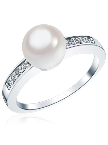 Rafaela Donata Ring Sterling Silber Zirkonia Muschelkernperle in Silber in silber