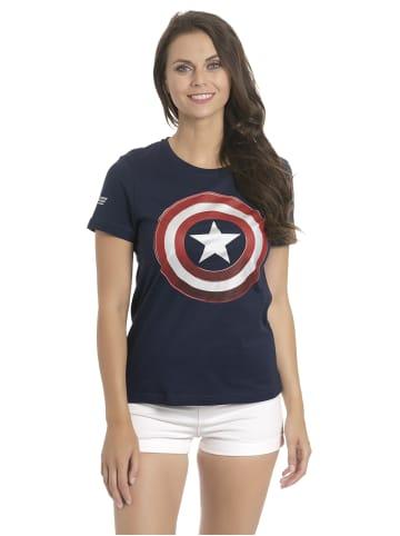 MARVEL Captain America T-Shirt Shield in blau