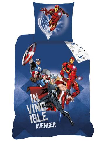"MARVEL COMICS Jungen Bettwäsche-Set ""Marvel Avengers"" in Blau / Weiß"