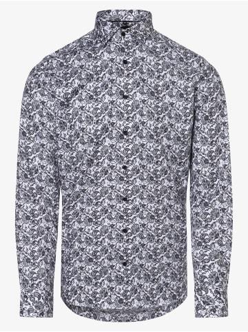 OLYMP  Hemd in weiß schwarz