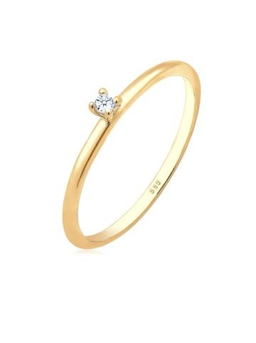 Elli DIAMONDS  Ring 585 Gelbgold Solitär-Ring, Verlobungsring in Gold