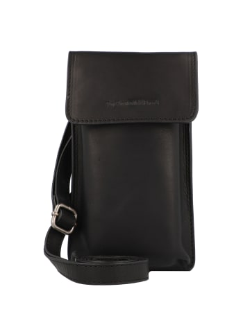 The Chesterfield Brand Wax Pull Up Andrea Handytasche Leder 11 cm in schwarz