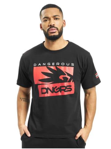 DNGRS Dangerous Design Print Kurzarm T-Shirt in Rot