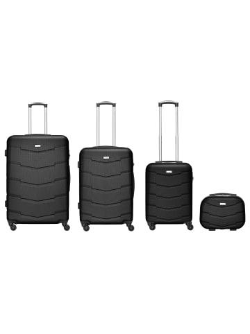 Packenger Carli 4er-Set Koffer in Schwarz