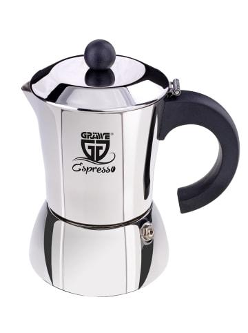 GRÄWE Espressokocher in silber