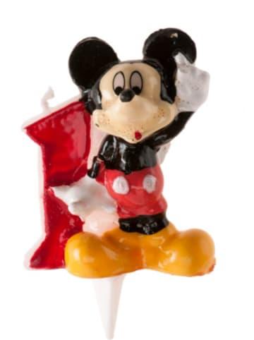 DeKora Kerze Mickey 3D - Zahl 1