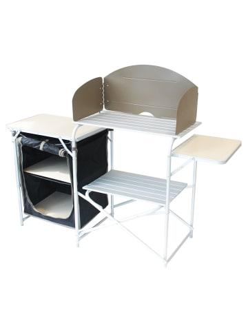 Yellowstone Campingschrank Quick Erect XL Kitchen Stand in schwarz/silber