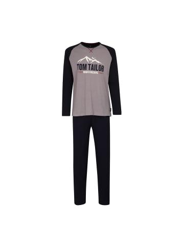 Tom Tailor Pyjama in Grau