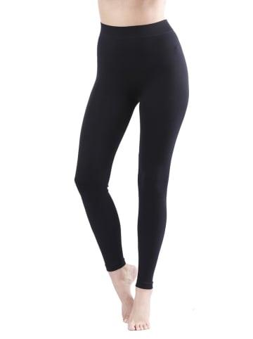 Yenita® Seamless Leggings in Schwarz