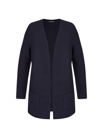 VIA APPIA DUE  Strickjacke Klassischer Cardigan mit unifarbenem Stoff in dunkelblau