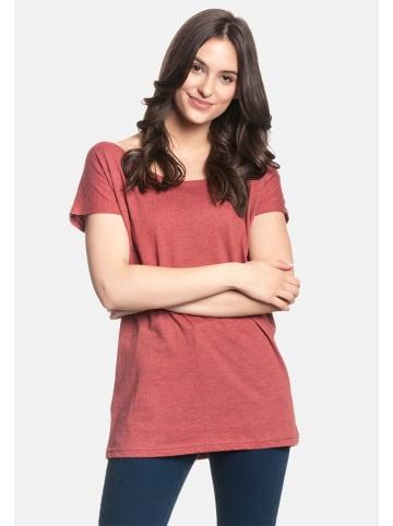 Nastrovje Potsdam T-Shirt Nastrovje Potsdam Loose Shirt in rot meliert