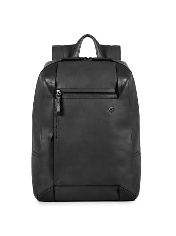 Piquadro Pan Businessrucksack Leder 39 cm Laptopfach in black
