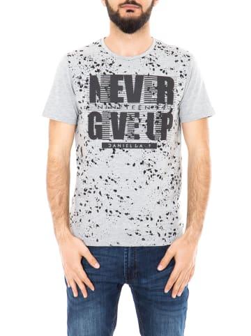 Daniel Daaf Daniel Daaf Watercolor T-Shirt mit Frontprint in grey