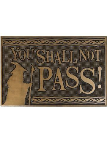 Der Hobbit & Der Herr der Ringe Fussmatte Lord Of The Rings - Shall Not Pass (Rubb