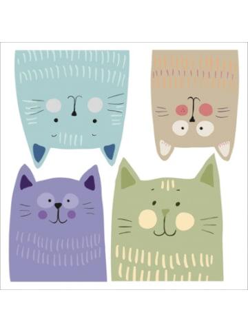 Crearreda Wand Sticker Multicolour Katzen, M