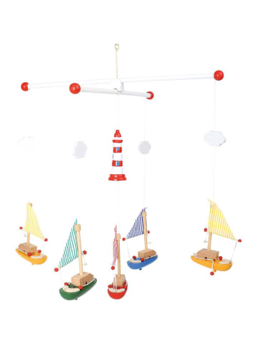 "Small foot Mobile ""Segelboote mit Leuchtturm"" in bunt"