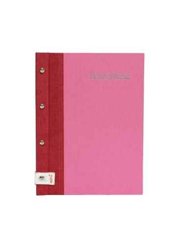 ROTH Zeugnismappe Bicolor mit Buchschrauben Cherry-Pink - Dokumentenmappe