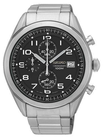 Seiko Chronograph Uhr 'SSB269' in Schwarz/Silber