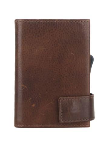 SecWal SecWal 2 Kreditkartenetui Geldbörse RFID Leder 9 cm in braun