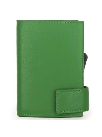 SecWal SecWal 1 Kreditkartenetui Geldbörse RFID Leder 9 cm in grün