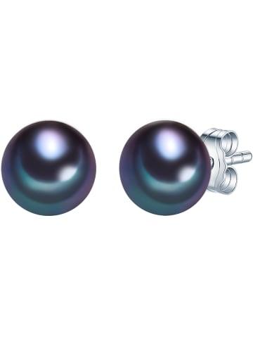 Valero Pearls Perlen-Ohrstecker Sterling Silber Süßwasser-Zuchtperle in Silber in silber