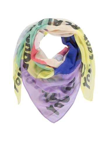 Passigatti Tuch mit Schrift und Multicolor Design in multicolour