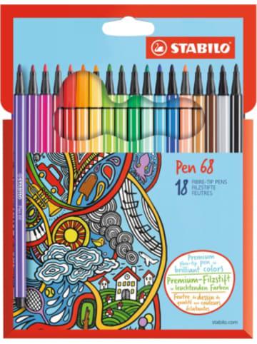 STABILO Premium-Filzstifte Pen 68, 18 Farben