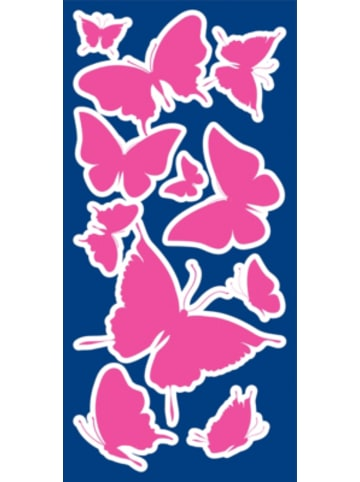 Crearreda Wandsticker Leucht-Schmetterlinge, 46-tlg.