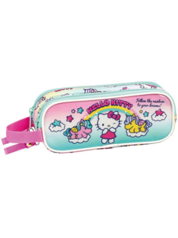 Safta Schlampermäppchen 2 Zipper Hello Kitty Candy Unicorns