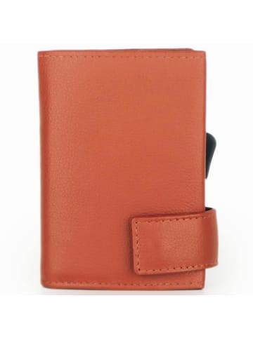 SecWal SecWal 2 Kreditkartenetui Geldbörse RFID Leder 9 cm in orange