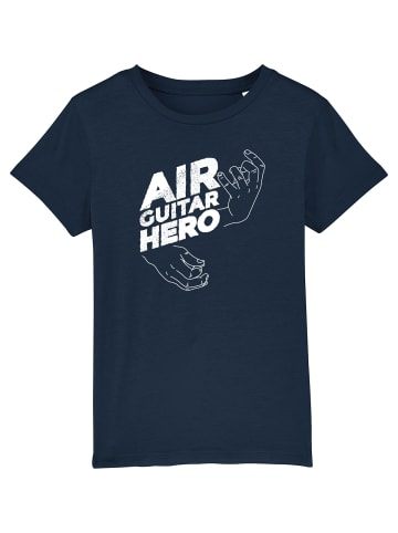 Wat? Apparel T-Shirt Air Guitar Hero in Dunkelblau